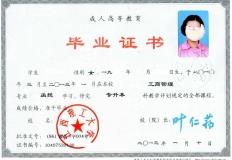 江西理工大学成教专升本科毕业证